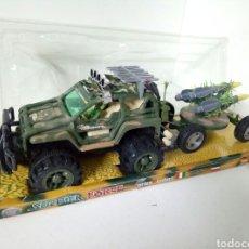Figuras de acción: GRAN TODOTERRENO CON REMOLQUE MISILES MEDIDAS 49X9,5X17CMS SOLDIER FORCE. Lote 106078980