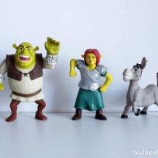 Figuras de acción: SHREK, FIONA Y BURRO, FIGURAS ARTICULADAS, MCDONALD'S. Lote 106539971