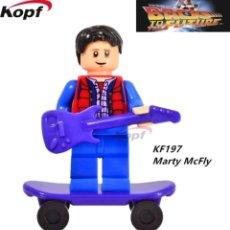 Figuras de acción: MINIFIGURA COMPATIBLE CON LEGO REGRESO AL FUTURO MARTY MCFLY NUEVO EN BOLSA SELLADA FIGURA MUÑECO. Lote 106616060