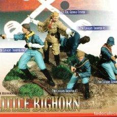 Figuras de acción: DIORAMA,BATALLA LITTLE BIGHORN,5 FIGURAS,GENERAL CUSTER,AÑO 2006,DRAGON MODELS,7 SEPTIMO CABALLERIA. Lote 107063127