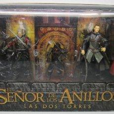 Figuras de acción: BATALLA EN EL ABISMO HELM,SEÑOR DE LOS ANILLOS LOTR,TOY BIZ/FAMOSA,HALDIR,ARAGORN,LEGOLAS,THEODEN,GI. Lote 110834807