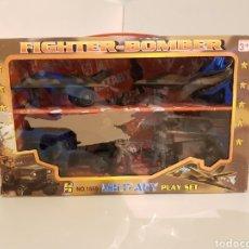 Figuras de acción: FIGHTER BOMBER POWER FORCE DOS CAZAS Y UN JEEP CON REMOLQUE MILITARY PLAYSET. Lote 114379728