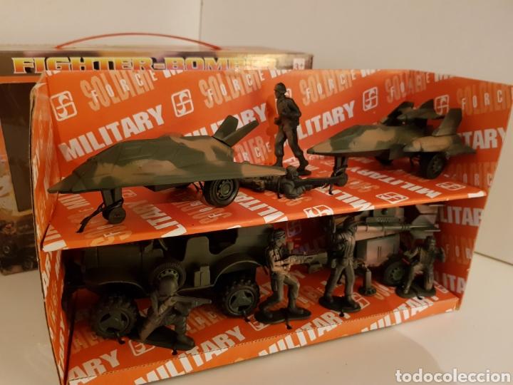 Figuras de acción: Fighter bomber power force dos cazas y un jeep con remolque military playset - Foto 2 - 114379728
