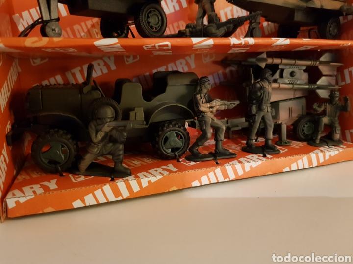 Figuras de acción: Fighter bomber power force dos cazas y un jeep con remolque military playset - Foto 3 - 114379728