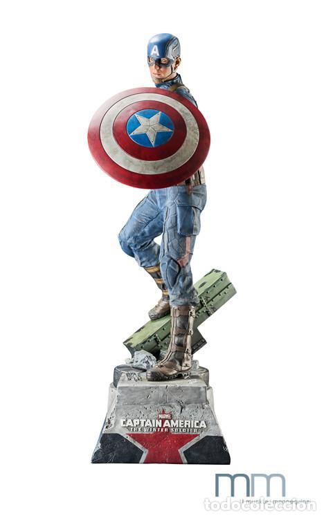 Figuras de acción: Captain America: The Winter Soldier 53 CM MUCKLE MANNEQUINS AVENGERS FIGURE LIMITED Capitan America - Foto 2 - 118504095