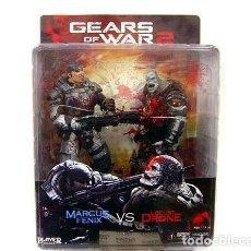 Figuras de acción: GEARS OF WAR 2: MARCUS FENIX VS LOCUST DRONE 2-PACK FIGURE 18 CM NECA 634482520802. Lote 120316323