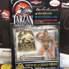 Figuras de acción: BLISTER TARZAN EN LA CIUDAD PERDIDA, BIZAK. Lote 120933219