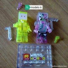 Figuras de acción: MINECRAFT TRANSPARENTE CHICO AMARILLO Y ZOMBIE CERDO LEGO COMPATIBLE LOTE DE 2 MINIFIGURAS. Lote 121459975