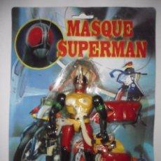Figuras de acción: RARO MASQUE SUPERMAN MASKED RAIDER POWER RANGERS FIGURA BOOTLEG NUEVA EN BLISTER. Lote 122467327