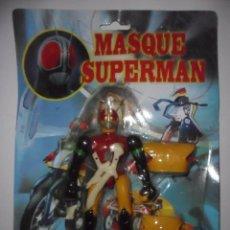 Figuras de acción: RARO MASQUE SUPERMAN MASKED RAIDER POWER RANGERS FIGURA BOOTLEG NUEVA EN BLISTER. Lote 122467423