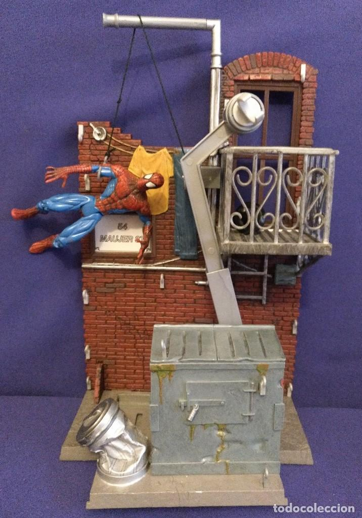 Figuras de acción: Diorama Marvel de muñeco Spiderman,REGALO moto de los 80-90 - Foto 7 - 123495931