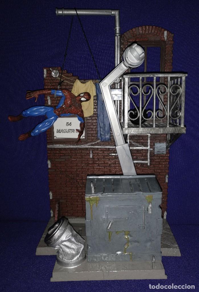 Figuras de acción: Diorama Marvel de muñeco Spiderman,REGALO moto de los 80-90 - Foto 9 - 123495931