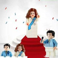Figuras de acción: PAREJA DE NOVIOS LEGO COMPATIBLE CON INVITADO DE REGALO (MESSI). Lote 128081863