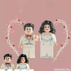 Figuras de acción: PAREJA DE NOVIOS LEGO COMPATIBLE CON INVITADO DE REGALO (DON DE GENTES). Lote 128082571