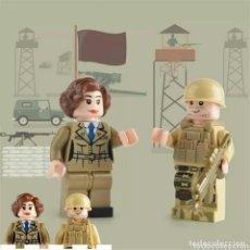 Figuras de acción: PAREJA DE NOVIOS MILITARES LEGO COMPATIBLE + INVITADO (TERMINATOR). Lote 128084607