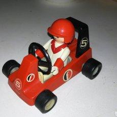 Figuras de acción: CAR Y PILOTO FAMOBIL. AÑOS 70. Lote 132795222
