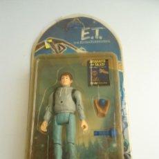 Figuras de acción: ELLIOT - E.T. THE EXTRA-TERRESTRIAL - ET EL EXTRATERRESTRE - AÑOS 80 - FIGURA EN BLISTER - RARA. Lote 133839706