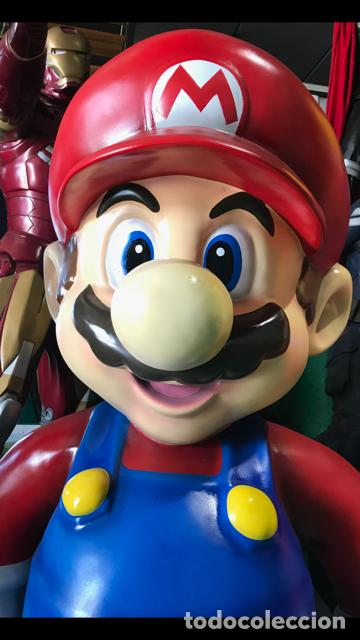 Figuras de acción: Figura Mario Bros 1,50 metros de alto fibra de vidrio vintage años 80 life size coleccion - Foto 2 - 134861310