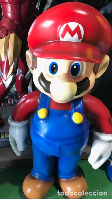 Figuras de acción: Figura Mario Bros 1,50 metros de alto fibra de vidrio vintage años 80 life size coleccion - Foto 3 - 134861310