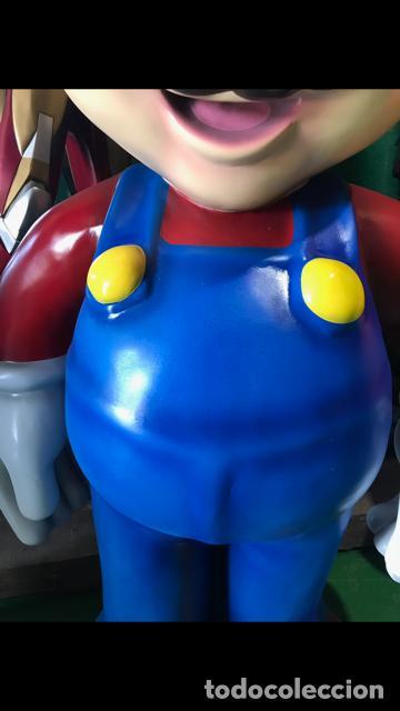 Figuras de acción: Figura Mario Bros 1,50 metros de alto fibra de vidrio vintage años 80 life size coleccion - Foto 4 - 134861310