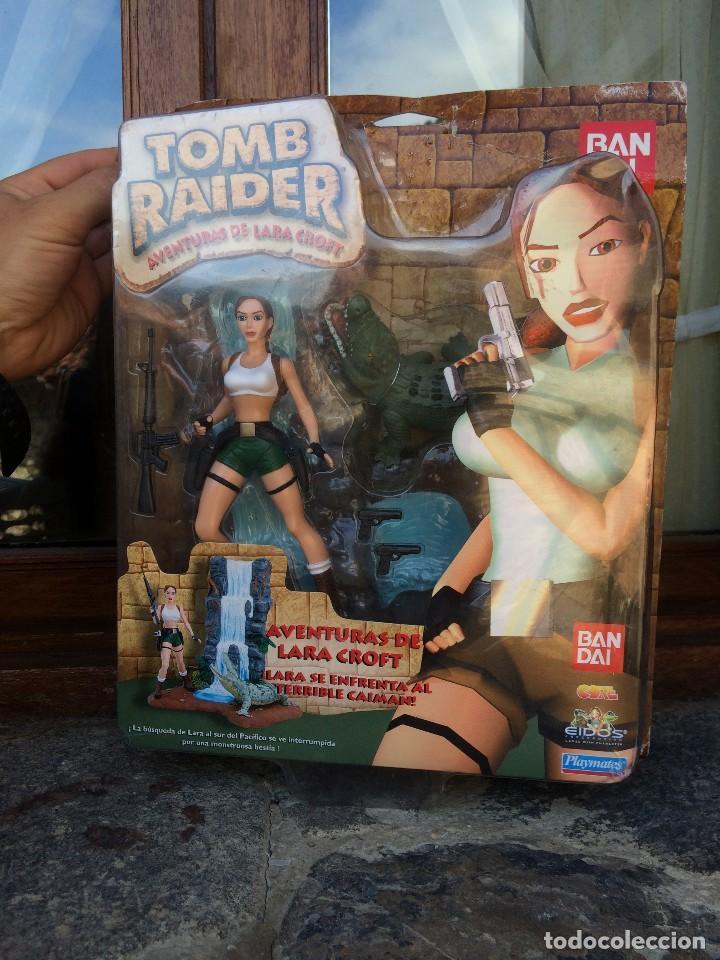 MASTERS LOTE ENORME BLISTER PRECINTADO TOMB RAIDER LARA KROFT VS CAIMAN BANDAI PLAYMATES RARO (Juguetes - Figuras de Acción - Otras Figuras de Acción)