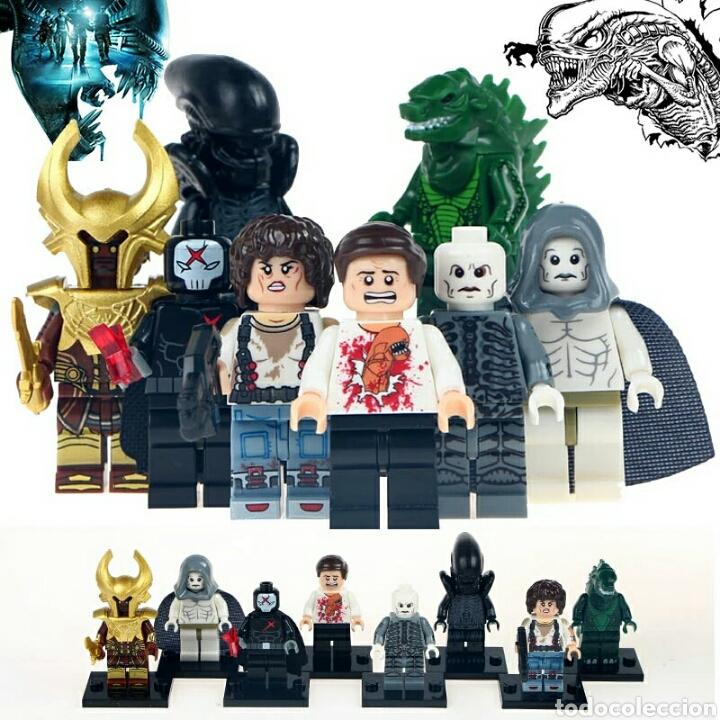 lote de 8 bloques lego compatible terror Sci Fi vampiros colección.oferta Hallowen segunda mano