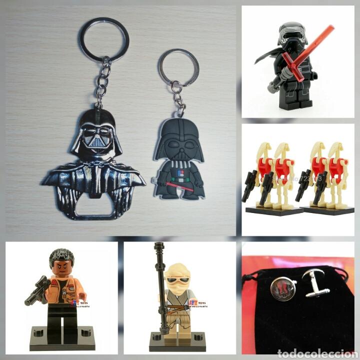 Lote star wars set 3 + 4 droides lego compatible, llavero,abrebotellas y gemelos segunda mano