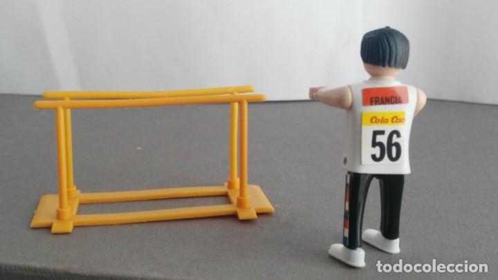 Figuras de acción: ANTIGUA FIGURA DE MINI AIRGAM BOYS OLIMPICO COLA CAO FRANCIA CON BARRAS - Foto 2 - 137982774