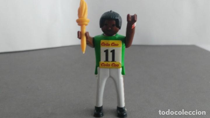 Figuras de acción: ANTIGUA FIGURA DE MINI AIRGAM BOYS OLIMPICO COLA CAO EEUU CON ANTORCHA - Foto 2 - 137984294