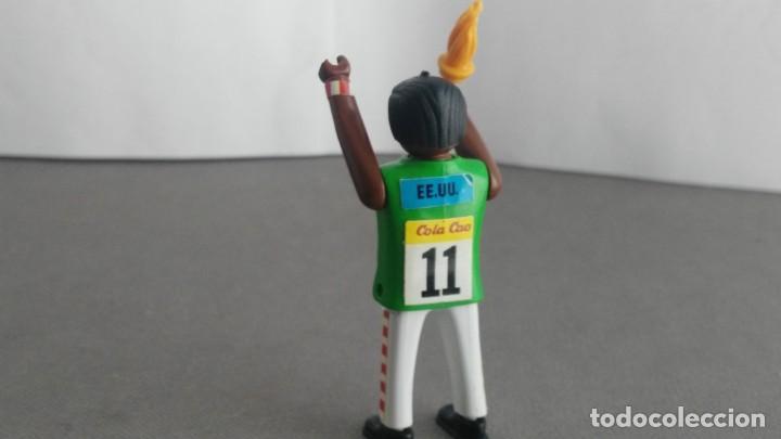 Figuras de acción: ANTIGUA FIGURA DE MINI AIRGAM BOYS OLIMPICO COLA CAO EEUU CON ANTORCHA - Foto 3 - 137984294