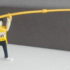 Figuras de acción: ANTIGUA FIGURA DE MINI AIRGAM BOYS OLIMPICO COLA CAO BRASIL CON PERTIGA. Lote 137984546