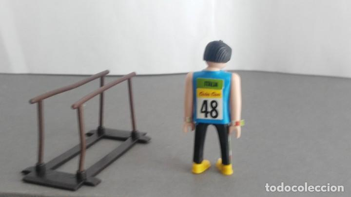 Figuras de acción: ANTIGUA FIGURA DE MINI AIRGAM BOYS OLIMPICO COLA CAO ITALIA CON BARRAS - Foto 2 - 137984902