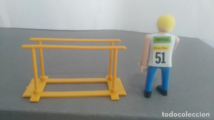 Figuras de acción: ANTIGUA FIGURA DE MINI AIRGAM BOYS OLIMPICO COLA CAO PORTUGAL CON BARRAS - Foto 2 - 137985682