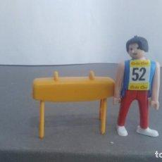 Figuras de acción: ANTIGUA FIGURA DE MINI AIRGAM BOYS OLIMPICO COLA CAO PORTUGAL CON POTRO. Lote 137986150