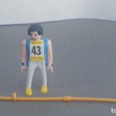 Figuras de acción: ANTIGUA FIGURA DE MINI AIRGAM BOYS OLIMPICO COLA CAO FRANCIA CON PERTIGA. Lote 137988502