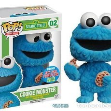 Figuras de acción: FIGURA FUNKO POP SESAME STREET COOKIE MONSTER FLOCKED MONSTRUO GALLETAS BARRIO SÉSAMO NYCC EXCLUSIVA. Lote 139495022