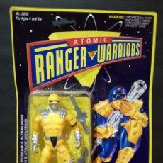 Figuras de acción: FIGURA RANGER WARRIOR BOOTLEG FAKE POWER RANGER. EN BLISTER. Lote 139767778