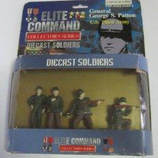 Figuras de acción: ELITE COMMANDER GENERAL GEORGE S. PATTON, DIECAST SOLDIERS, EN CAJA. CC. Lote 140208246