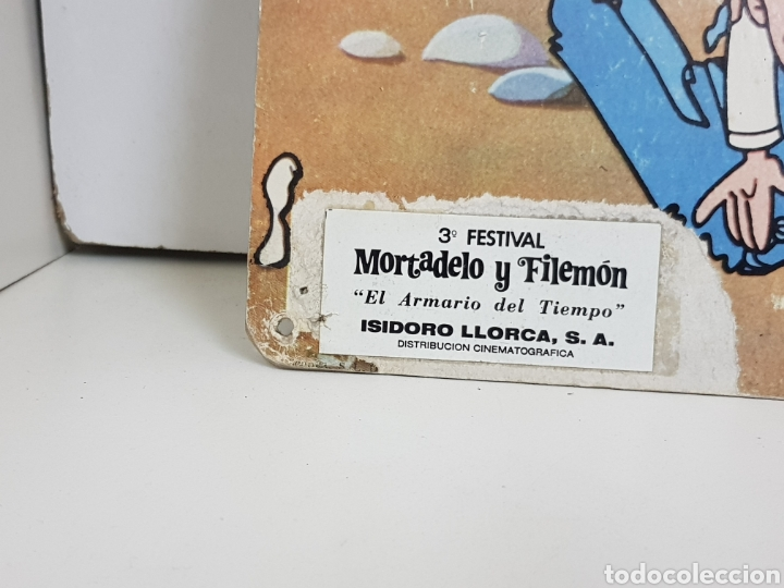 Figuras de acción: Lámina cartón tercer festival Mortadelo y Filemón el armario del tiempo Isidoro Llorca s. A. 34x24cm - Foto 3 - 140392749