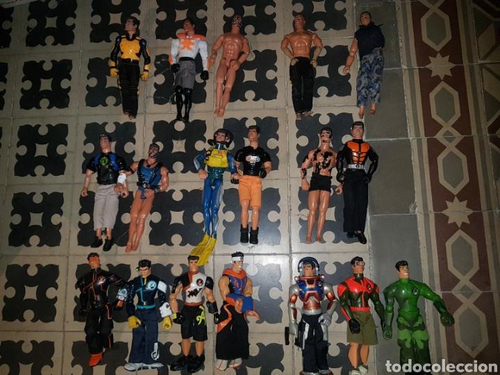 LOTE 18 MUÑECOS DE ACCIÓN ACTION MAN HASBRO, GEYPERMAN, POWER TEAM (1998/2006) (Juguetes - Figuras de Acción - Otras Figuras de Acción)