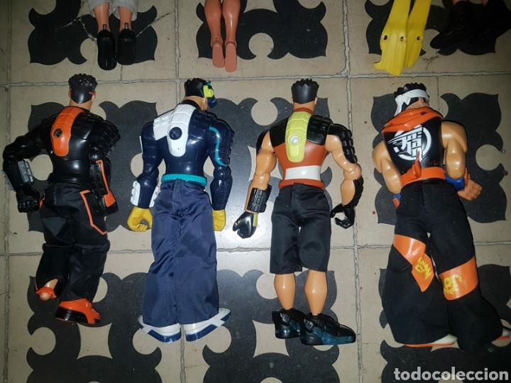 Figuras de acción: Lote 18 muñecos de acción Action Man Hasbro, Geyperman, Power Team (1998/2006) - Foto 3 - 178810285