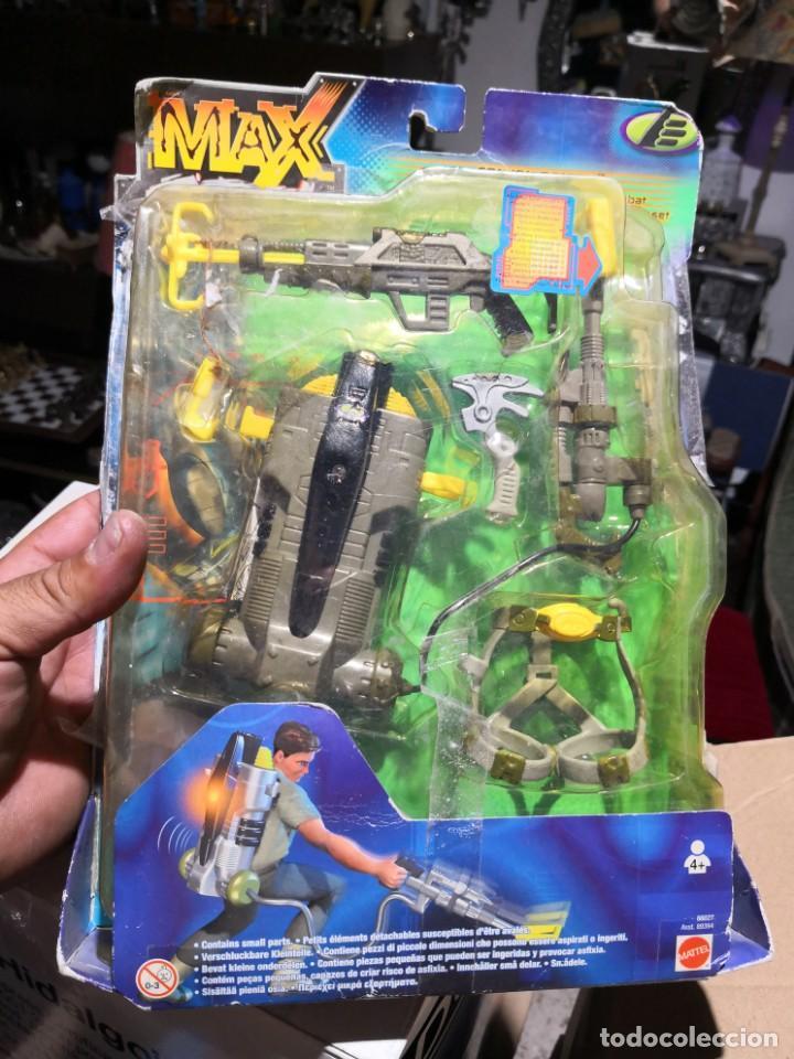 BLISTER ACCESORIOS ARMAS MAX STELL CANYON RAIDER PACK MISIÓN PARA MUÑECO (Juguetes - Figuras de Acción - Otras Figuras de Acción)