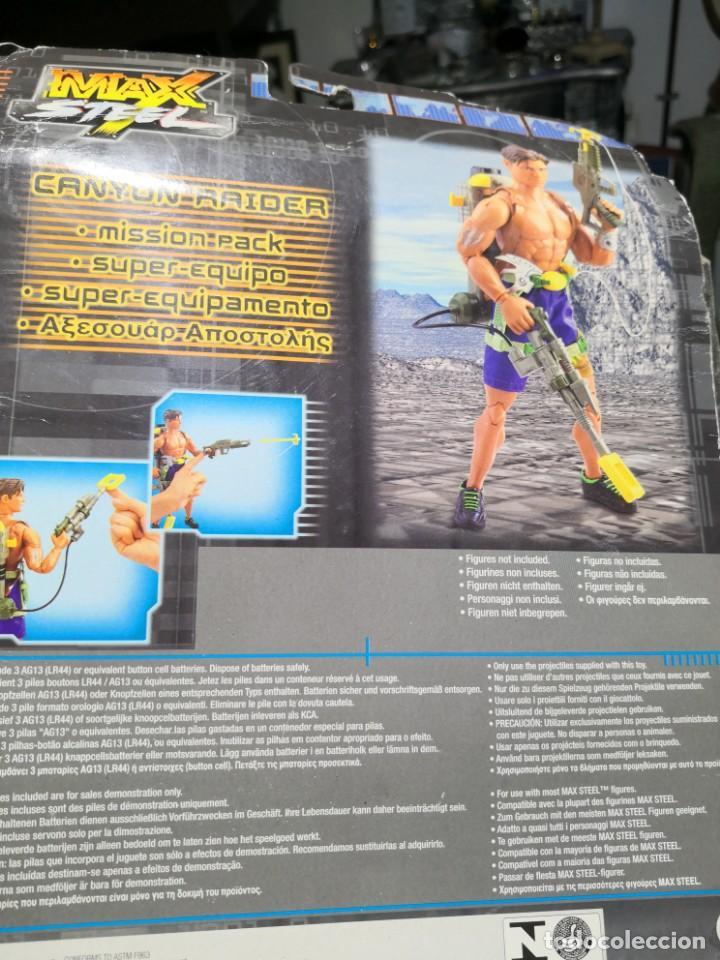 Figuras de acción: Blister Accesorios armas max stell canyon raider pack misión para muñeco - Foto 2 - 162602466