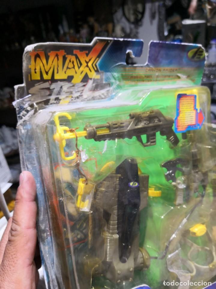 Figuras de acción: Blister Accesorios armas max stell canyon raider pack misión para muñeco - Foto 3 - 162602466
