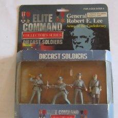 Figuras de acción: ELITE COMMANDER GENERAL ROBERT E. LEE, DIECAST SOLDIERS, EN CAJA. CC. Lote 140208010