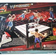 Figuras de acción: MATTEL WWE FLEXFORCE LAUNCHING RING CON LANZADOR COMPLETO (FIGURAS NO INCLUIDAS), MUY RARO. Lote 165080770