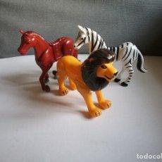 Figuras de acción: CABALLO CEBRA Y LEON PARA FIGURAS PLAYMOBIL PLAY BIG/CEFA, AIRGAM BOYS, BOYBIS.ANIMALES AÑOS 70.PTOY. Lote 49951093