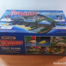 Figuras de acción: THUNDERBIRDS TRACY ISLAND MATCHBOX (INCLUYE COHETES Nº 1 Y 2) CON CAJA, GUARDIANES DEL ESPACIO. Lote 167455628