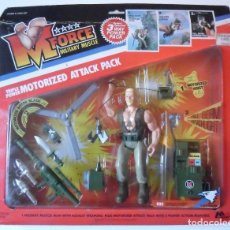 Figuras de acción: M FORCE MILITARY MUSCLE DOC TRIPLE POWER MOTERIZED ATTACK PACK FIGURA NUEVA EN BLISTER MARCHON 1986. Lote 168176760