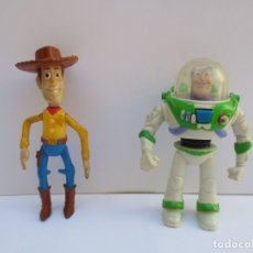 Figuras de acción: FIGURAS TOY STORY DISNEY PIXAR PVC, WOODY Y BUZZ LIGHT YEAR. Lote 170358140